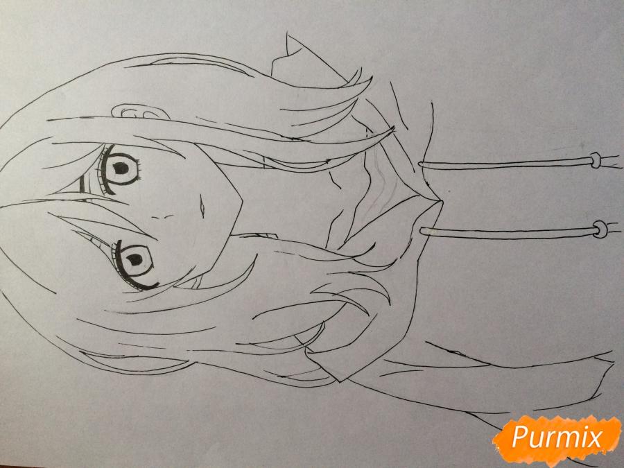 Рисуем и раскрасить Каэ Сэринуму из аниме Я требую яоя - шаг 6