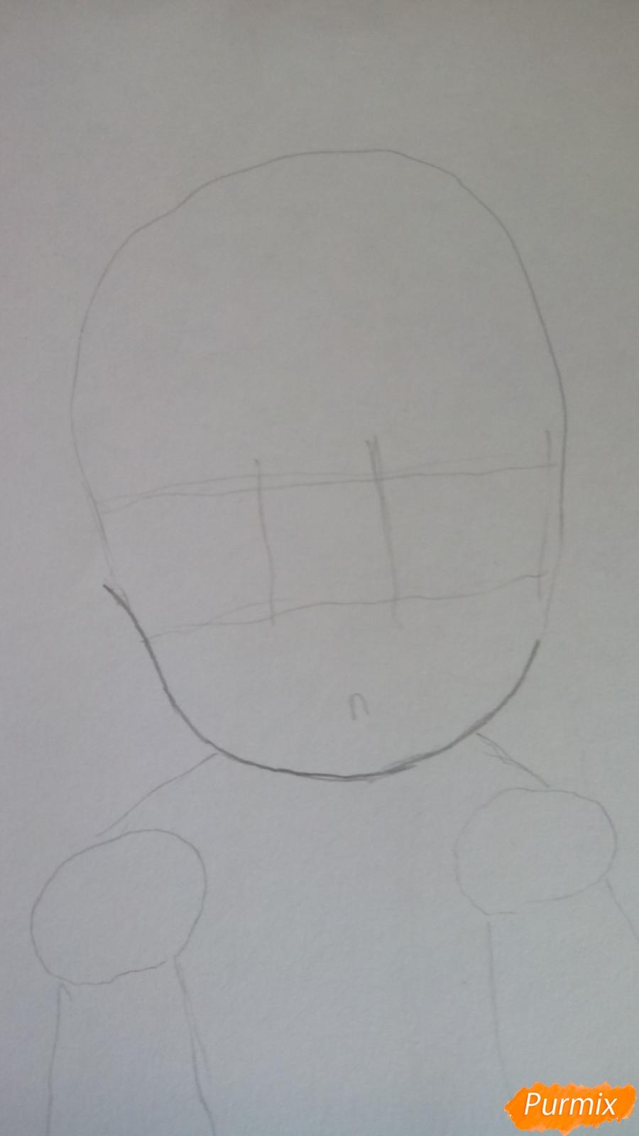 Рисуем Канну из аниме Дракон-горничная карандашами - шаг 2