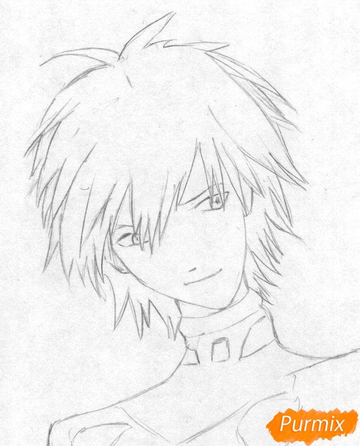 Рисуем Каору Нагиса из аниме Евангелион - шаг 1