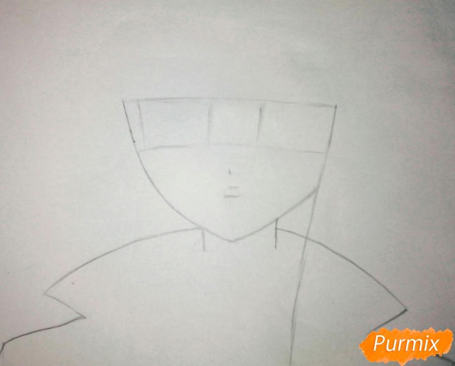 Рисуем Кеко Киригири из аниме Школа отчаяния - шаг 1