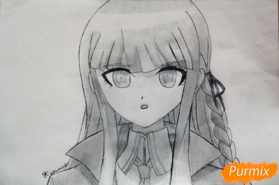 Как нарисовать Кеко Киригири из аниме Школа отчаяния карандашом поэтапно