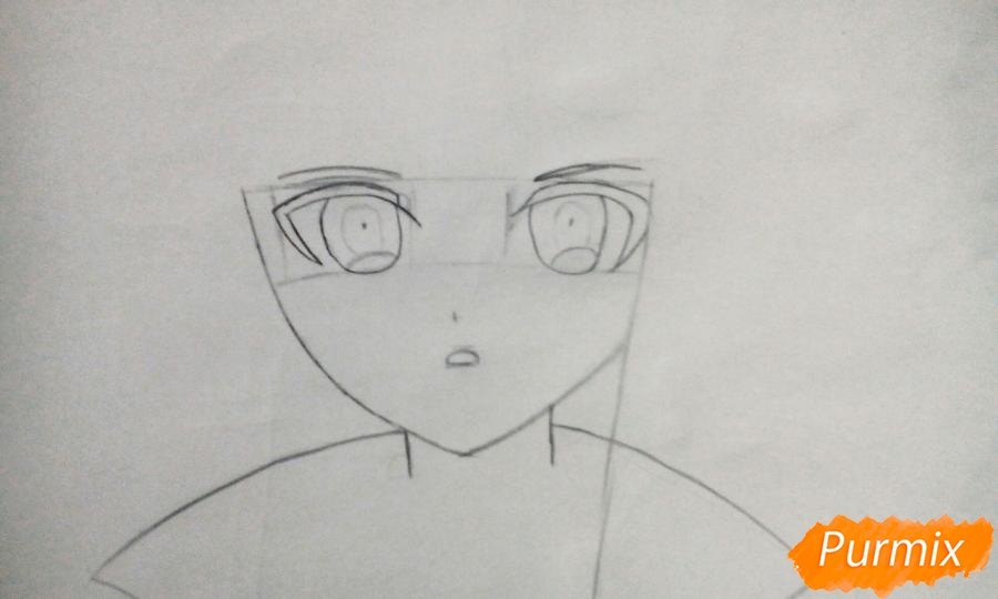 Рисуем Кеко Киригири из аниме Школа отчаяния - шаг 2