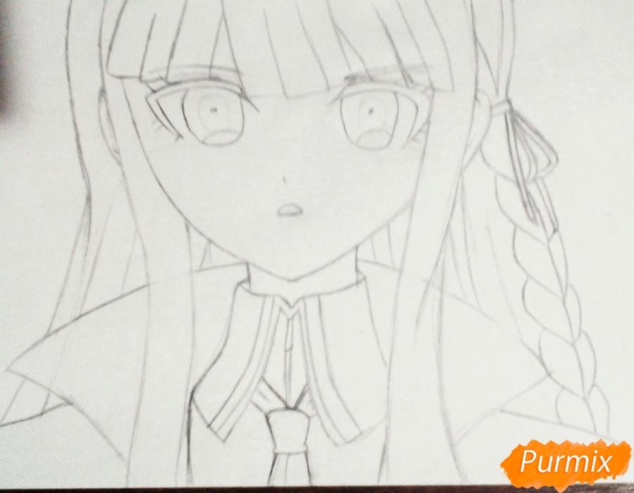 Рисуем Кеко Киригири из аниме Школа отчаяния - шаг 4