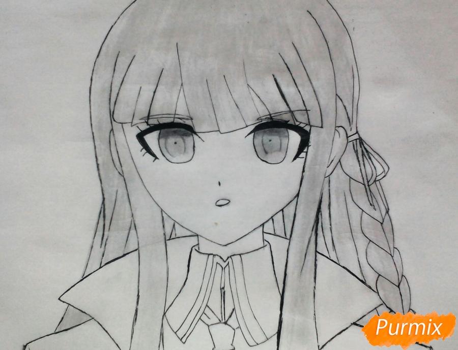 Рисуем Кеко Киригири из аниме Школа отчаяния - шаг 6
