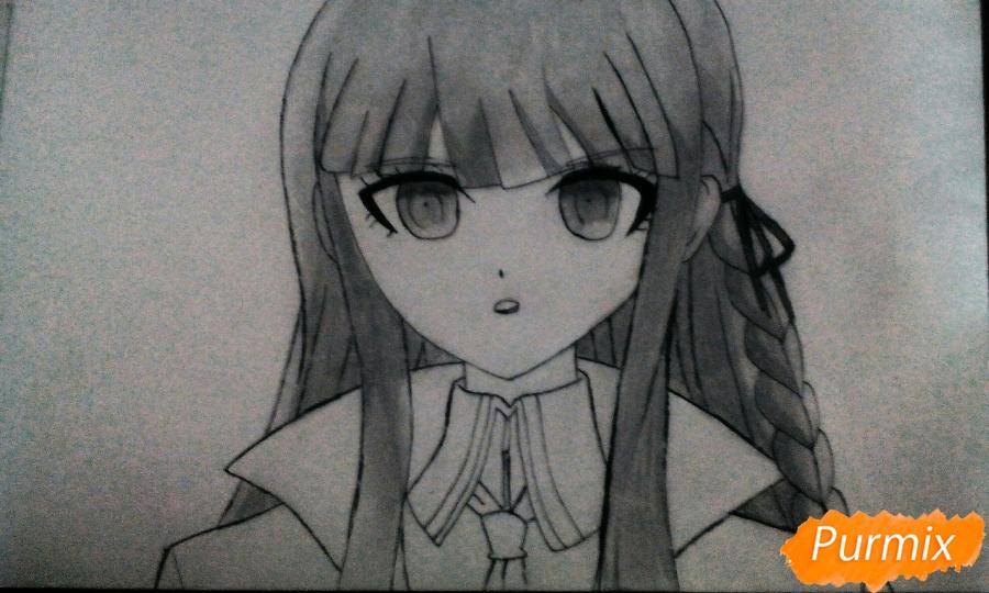 Рисуем Кеко Киригири из аниме Школа отчаяния - шаг 7
