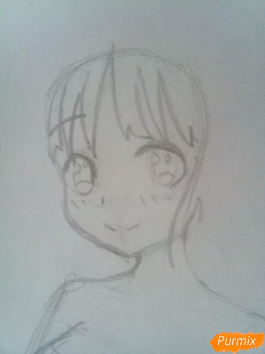 Рисуем Кокоро (556) из аниме Милый Во Франксе карандашами - фото 2