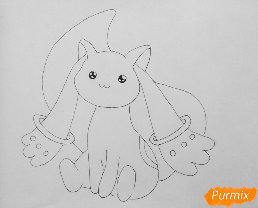 Рисуем белую кошку покемона - шаг 5
