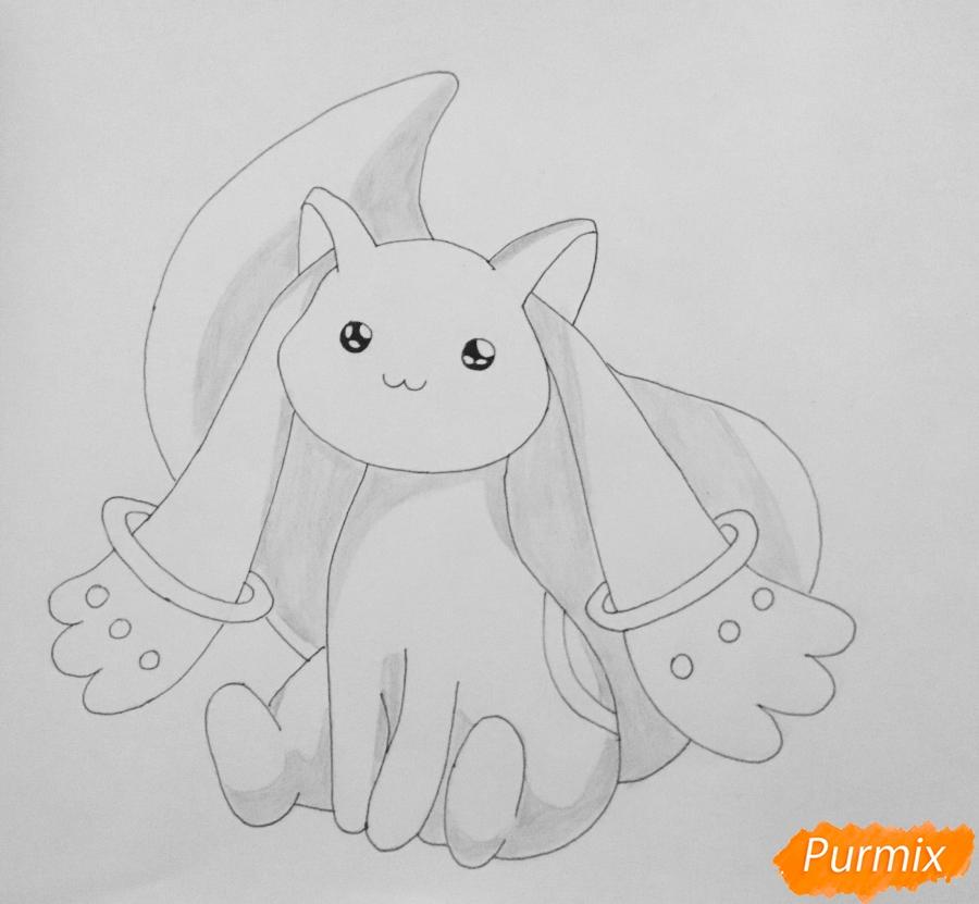 Рисуем белую кошку покемона - шаг 6