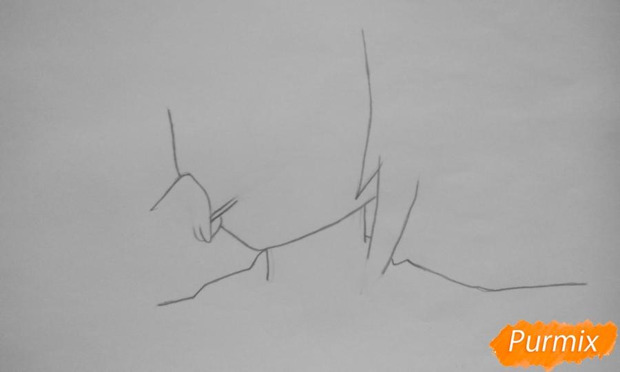 Рисуем Котори Ицуку из аниме Рандеву с жизнью - шаг 1