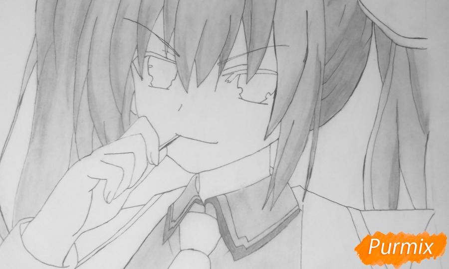Рисуем Котори Ицуку из аниме Рандеву с жизнью - шаг 10