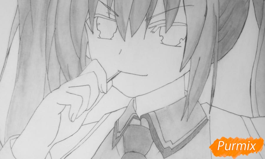 Рисуем Котори Ицуку из аниме Рандеву с жизнью - шаг 11