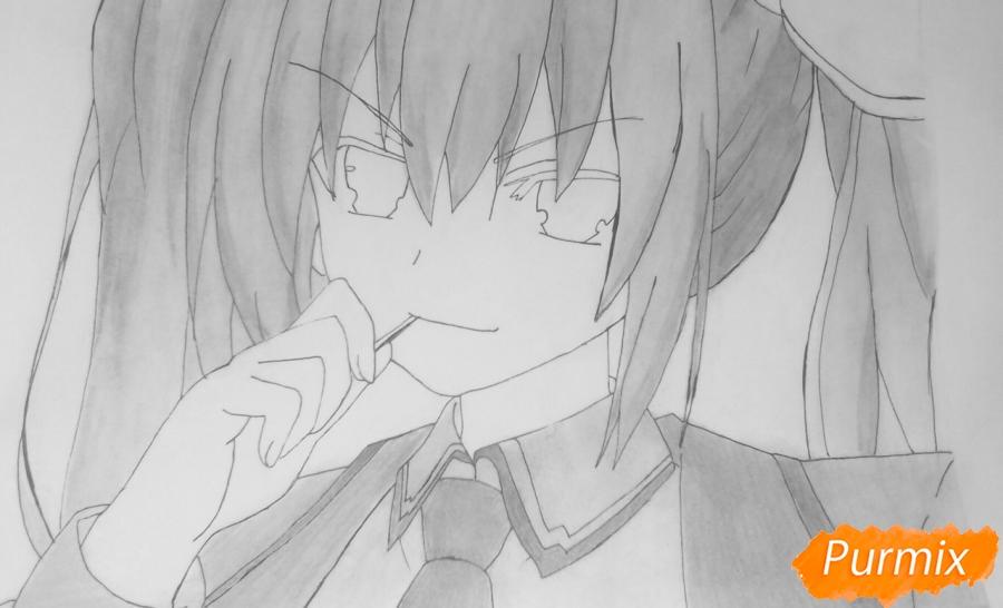 Рисуем Котори Ицуку из аниме Рандеву с жизнью - шаг 12