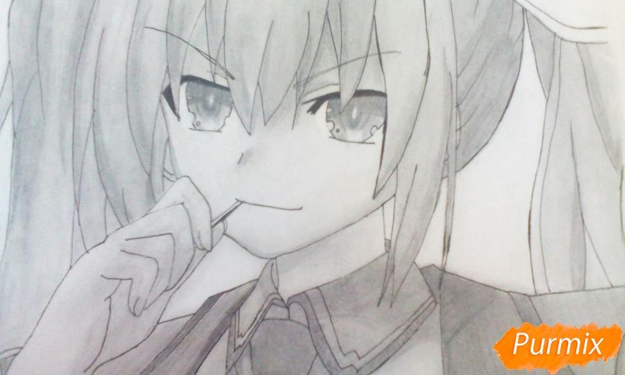 Рисуем Котори Ицуку из аниме Рандеву с жизнью - шаг 14