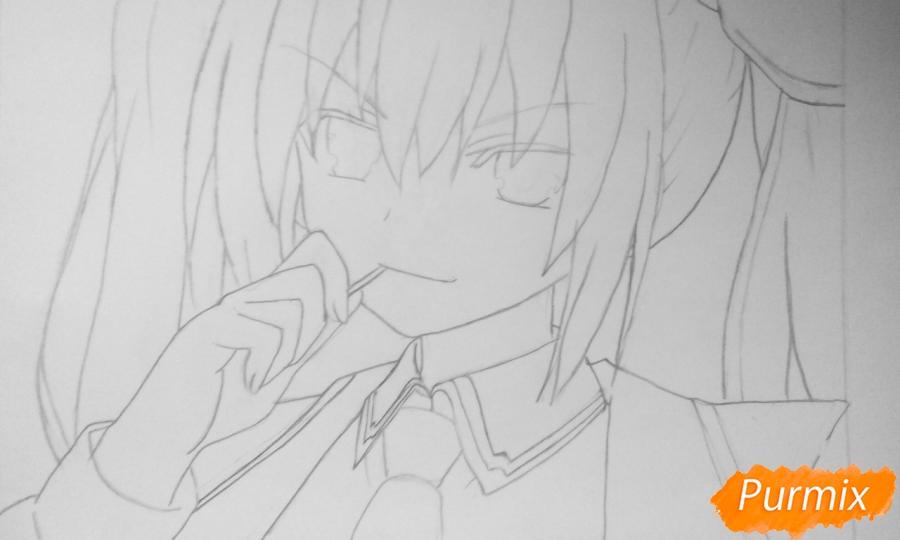 Рисуем Котори Ицуку из аниме Рандеву с жизнью - шаг 6