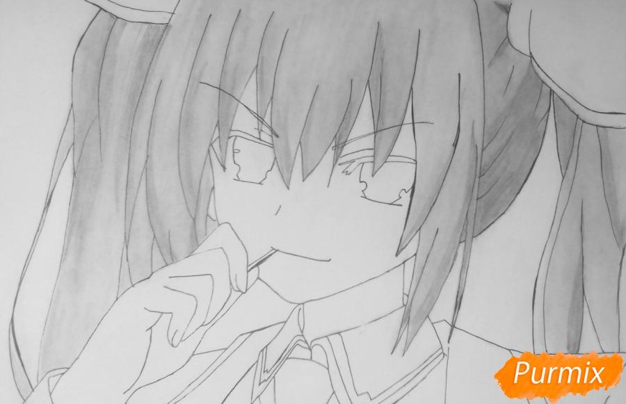 Рисуем Котори Ицуку из аниме Рандеву с жизнью - шаг 9