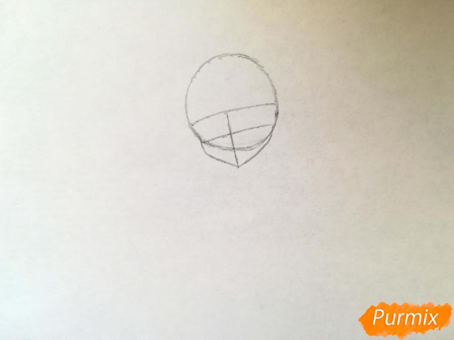 Рисуем красивую неко аниме девушку - шаг 2