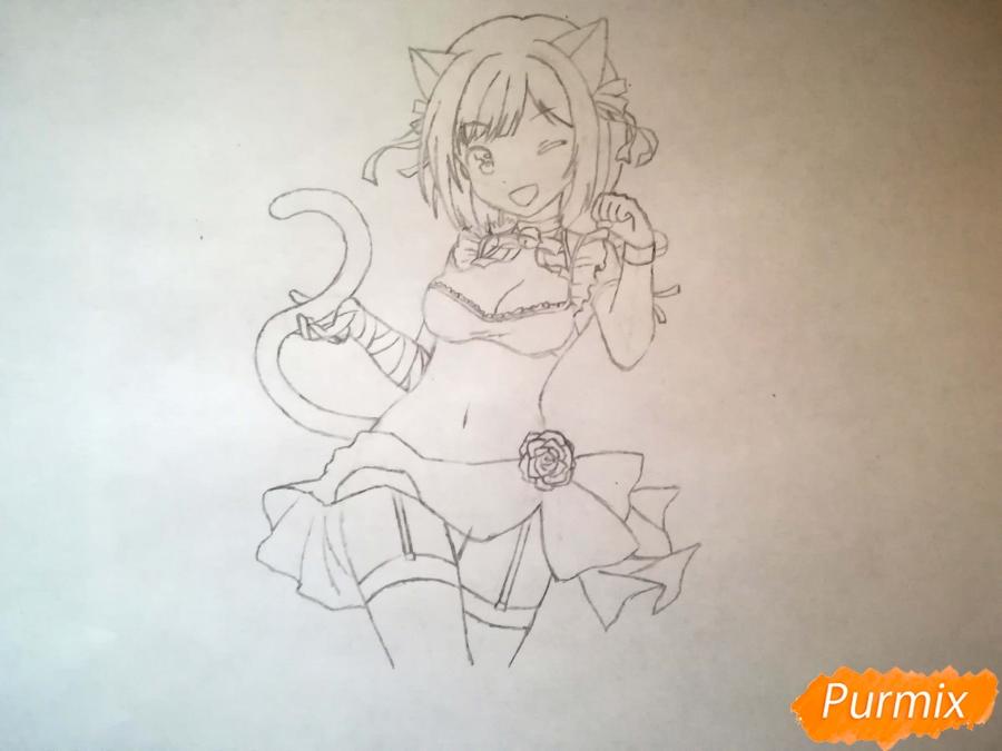 Рисуем красивую неко аниме девушку - шаг 9