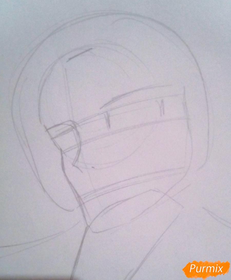 Рисуем Кроули Юсфорда из аниме Последний Серафим карандашами - фото 2