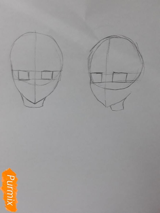 Рисуем Курияму Мирай и Мицуки Насэ из аниме За гранью - фото 1