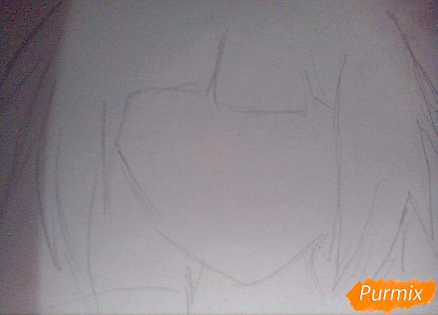 Рисуем Курону Ясухису из аниме Токийский гуль - шаг 1