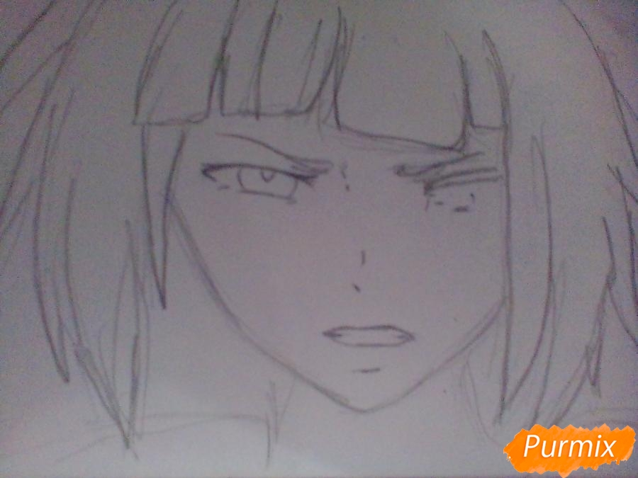 Рисуем Курону Ясухису из аниме Токийский гуль - шаг 2