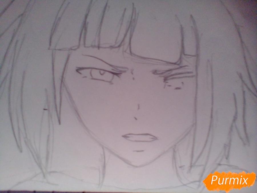 Рисуем Курону Ясухису из аниме Токийский гуль - шаг 3