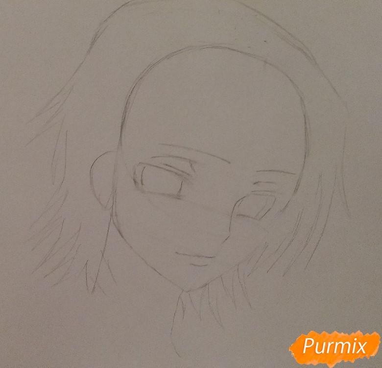 Рисуем Лелуша из аниме Код Гиасс часть 1 - шаг 3