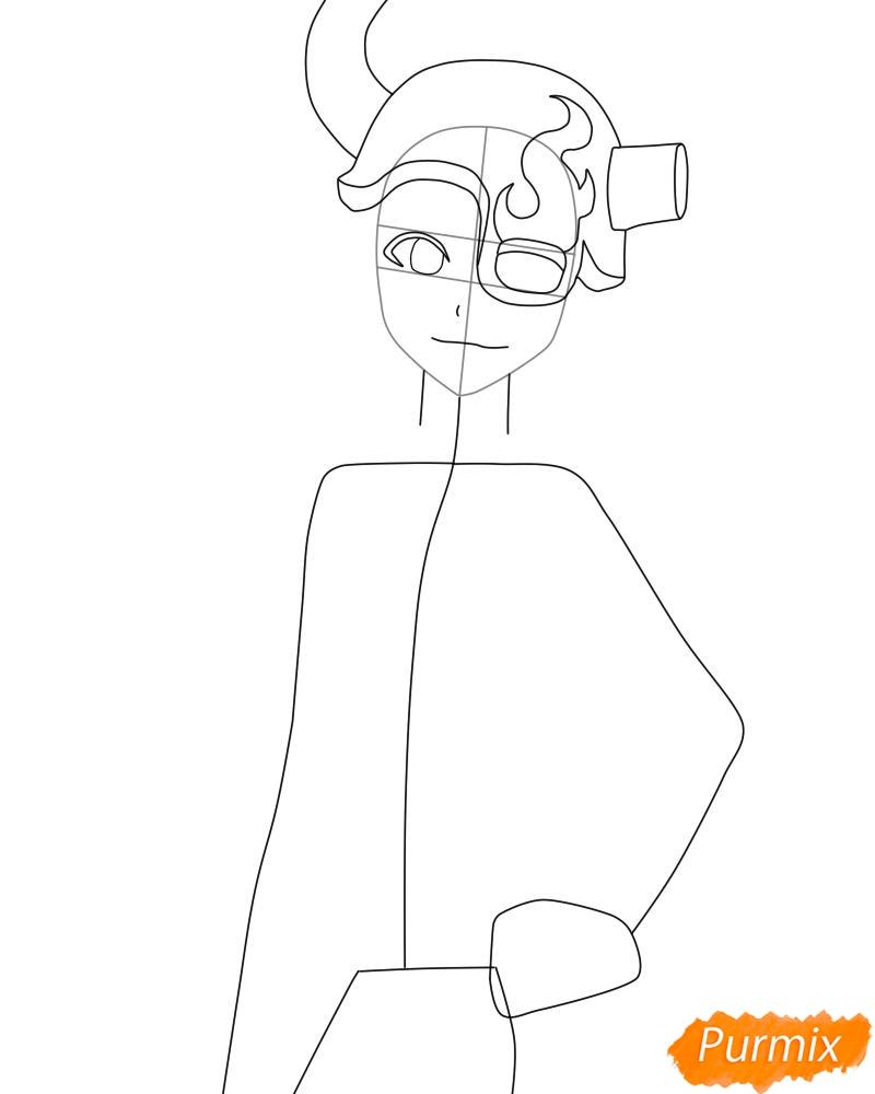 Рисуем и раскрасить Лилинет из аниме Bleach - фото 4