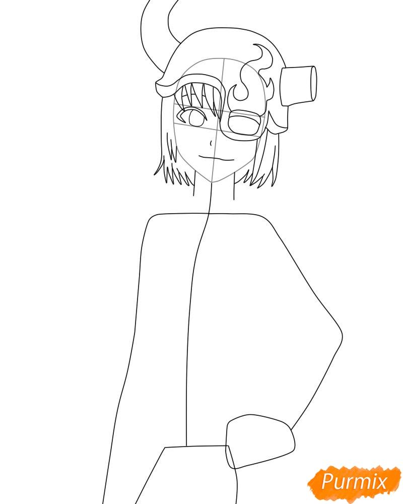 Рисуем и раскрасить Лилинет из аниме Bleach - фото 5