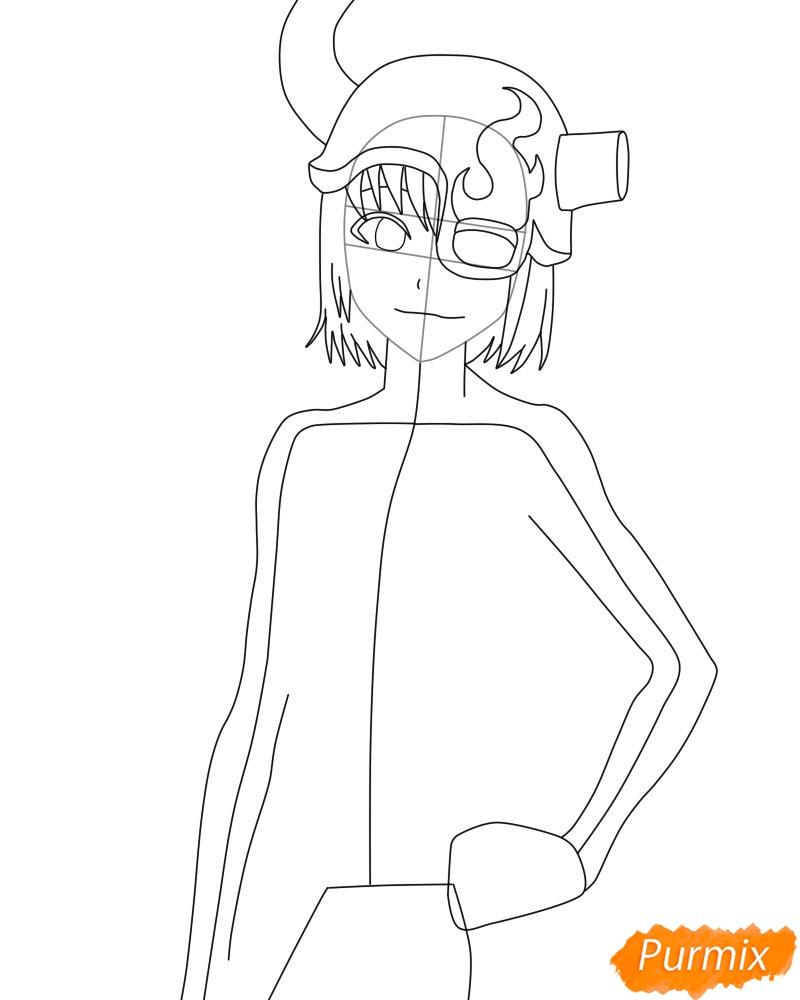 Рисуем и раскрасить Лилинет из аниме Bleach - фото 6