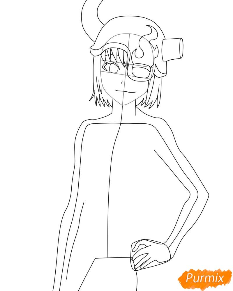 Рисуем и раскрасить Лилинет из аниме Bleach - фото 7