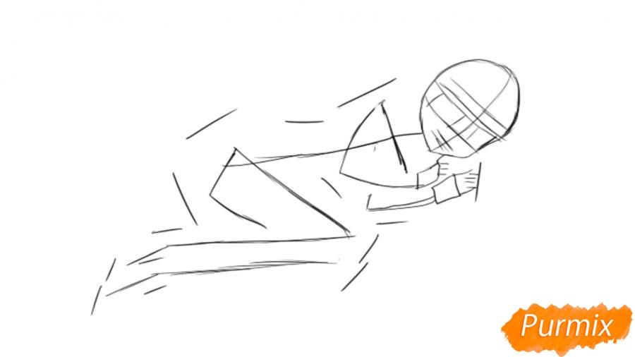 Рисуем и раскрашиваем Луизу из аниме Zero no Tsukaima - шаг 1
