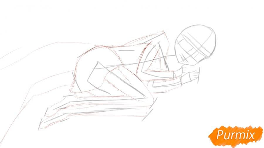 Рисуем и раскрашиваем Луизу из аниме Zero no Tsukaima - шаг 2