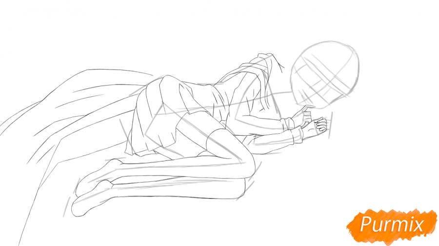 Рисуем и раскрашиваем Луизу из аниме Zero no Tsukaima - шаг 3