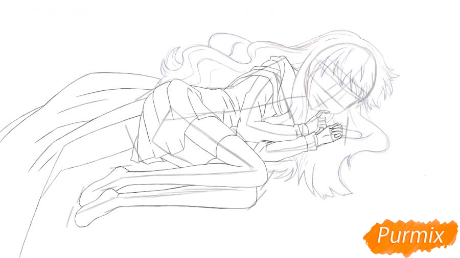Рисуем и раскрашиваем Луизу из аниме Zero no Tsukaima - шаг 4
