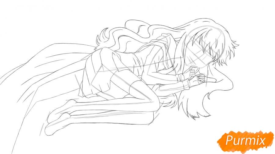 Рисуем и раскрашиваем Луизу из аниме Zero no Tsukaima - шаг 5