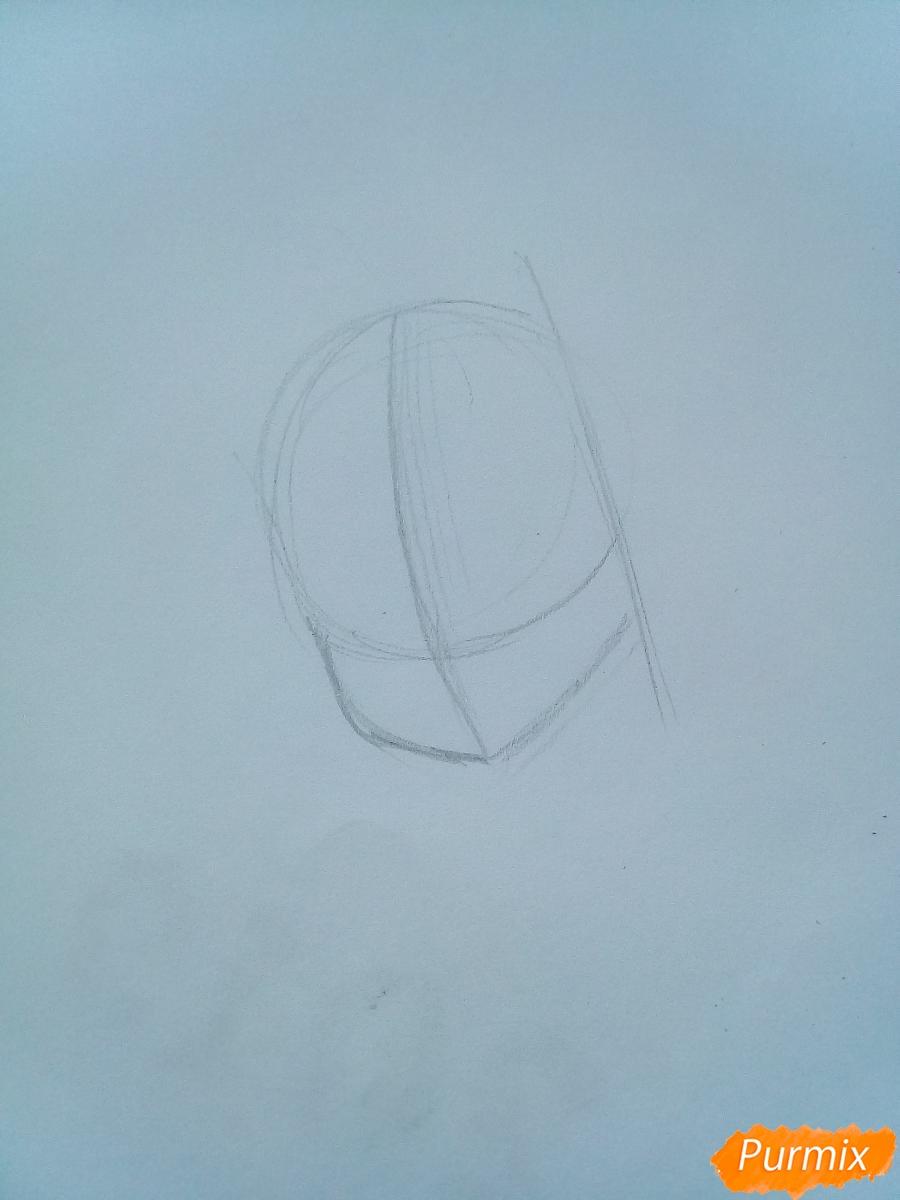 Рисуем Люси Сердоболию в свитере из аниме Хвост Феи карандашами - шаг 1