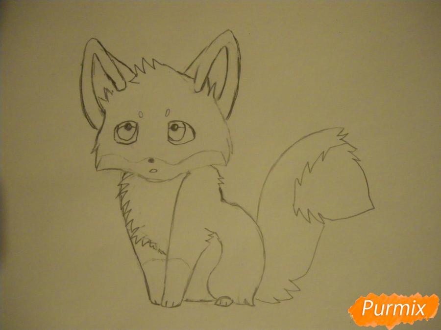Рисуем маленького аниме лисёнка - фото 5