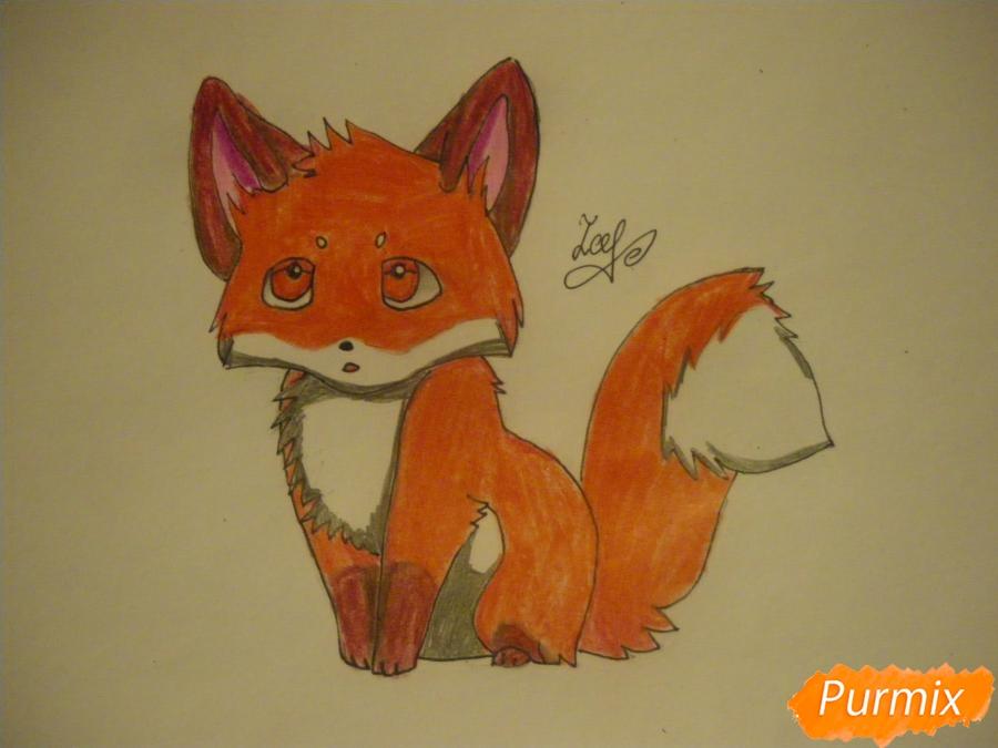 Рисуем маленького аниме лисёнка - фото 8