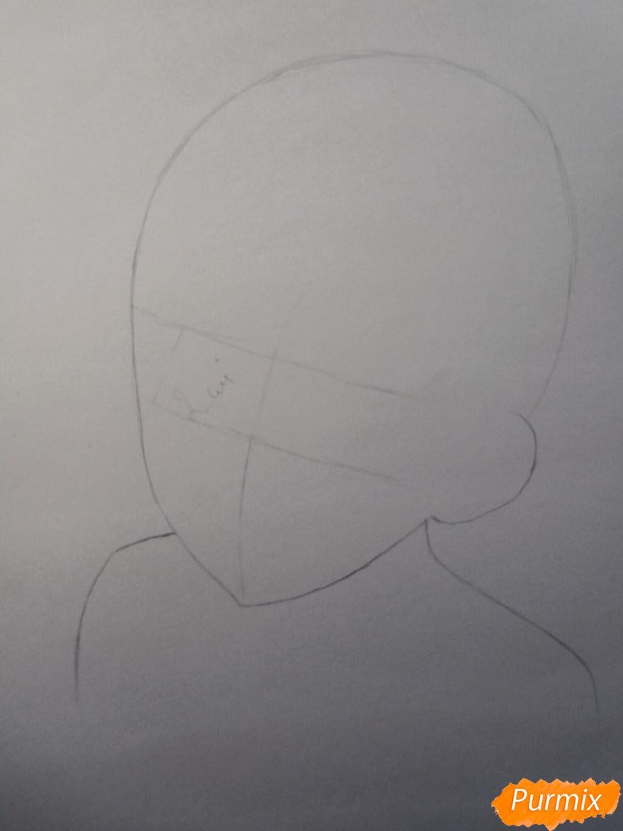 Рисуем маленького Аято Сакамаки из аниме Diabolik Lovers - шаг 1