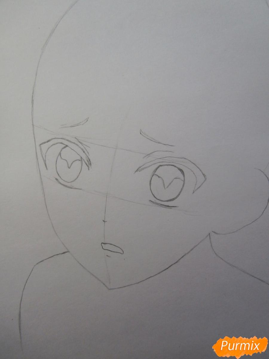 Рисуем маленького Аято Сакамаки из аниме Diabolik Lovers - шаг 2
