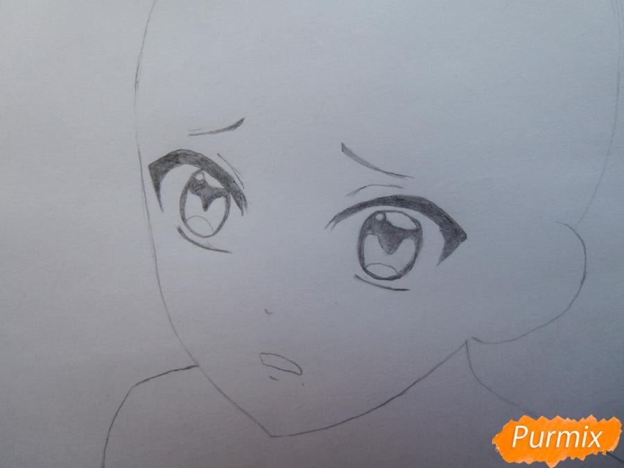 Рисуем маленького Аято Сакамаки из аниме Diabolik Lovers - шаг 4