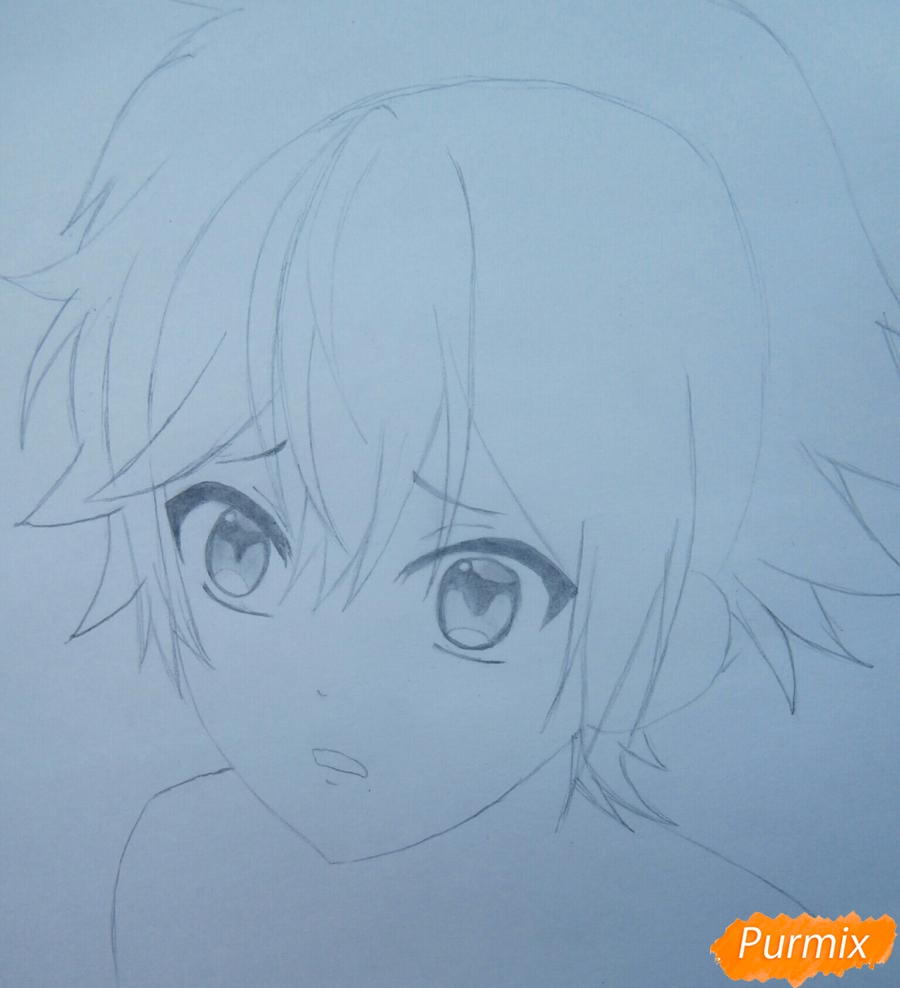 Рисуем маленького Аято Сакамаки из аниме Diabolik Lovers - шаг 6