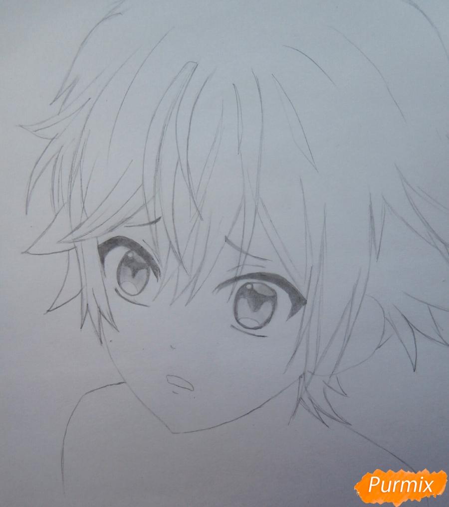 Рисуем маленького Аято Сакамаки из аниме Diabolik Lovers - шаг 7
