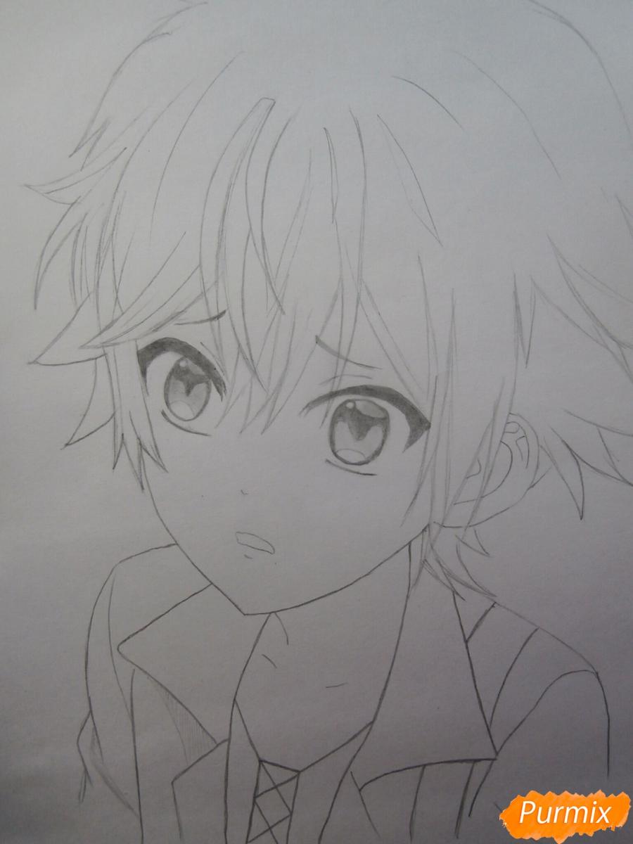 Рисуем маленького Аято Сакамаки из аниме Diabolik Lovers - шаг 8