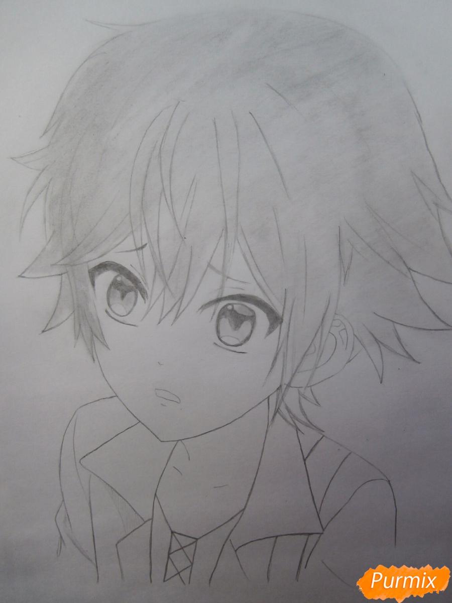 Рисуем маленького Аято Сакамаки из аниме Diabolik Lovers - шаг 9