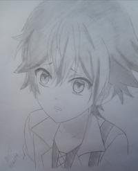 Рисунок маленького Аято Сакамаки