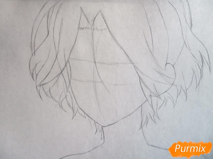 Рисуем маленького Райто Сакамаки - шаг 2