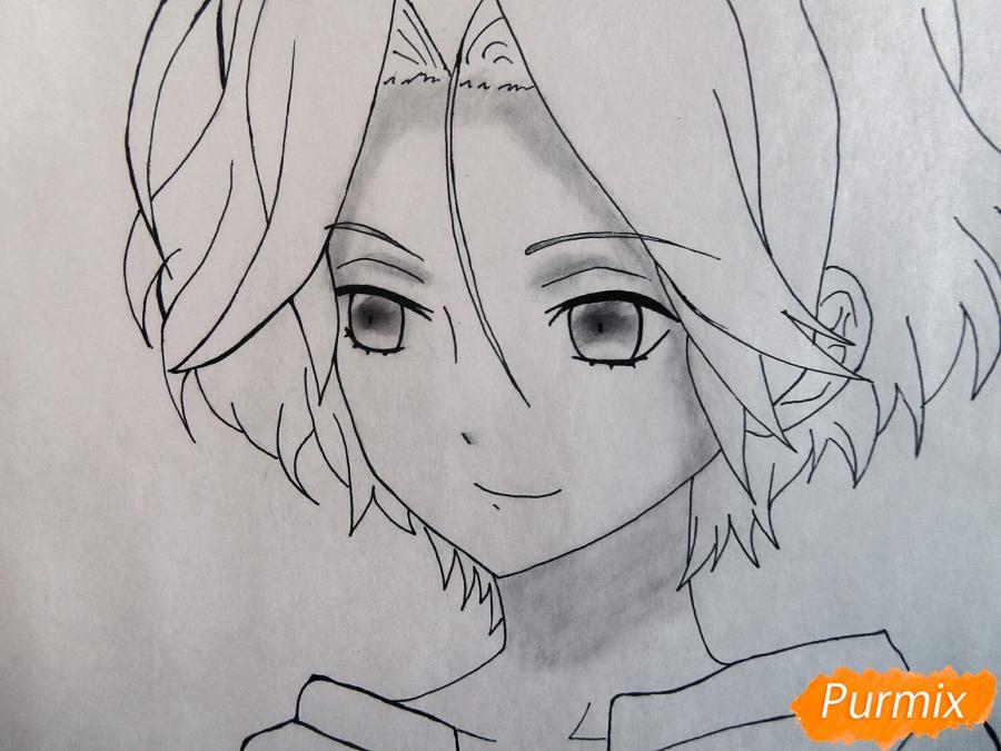 Рисуем маленького Райто Сакамаки - шаг 6