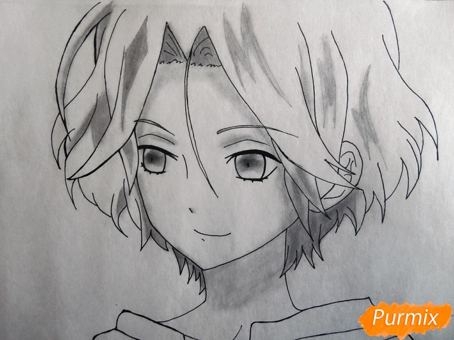 Рисуем маленького Райто Сакамаки - шаг 7